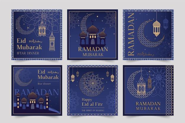 Kolekcja postów na instagramie ramadan