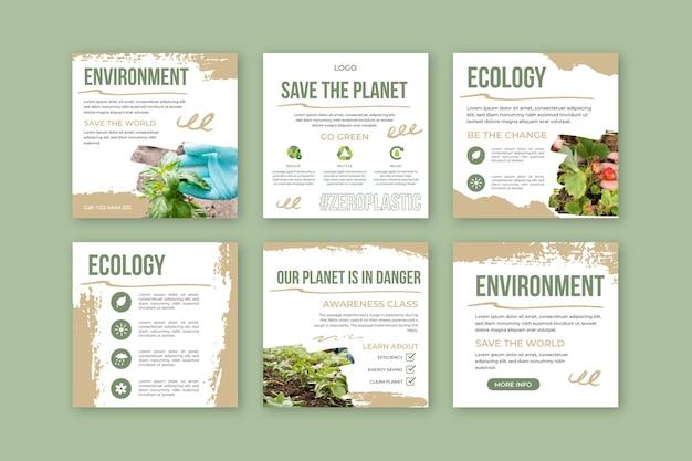 Kolekcja postów na instagramie w środowisku