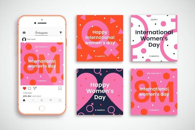 Kolekcja postów na instagramie z okazji międzynarodowego dnia kobiet