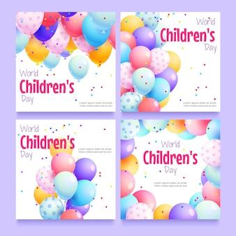 Kolekcja postów na instagramie z okazji światowego dnia dziecka
