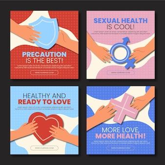 Kolekcja postów na instagramie z okazji światowego dnia zdrowia seksualnego