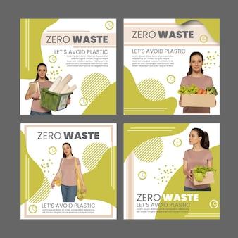 Kolekcja postów na instagramie zero waste