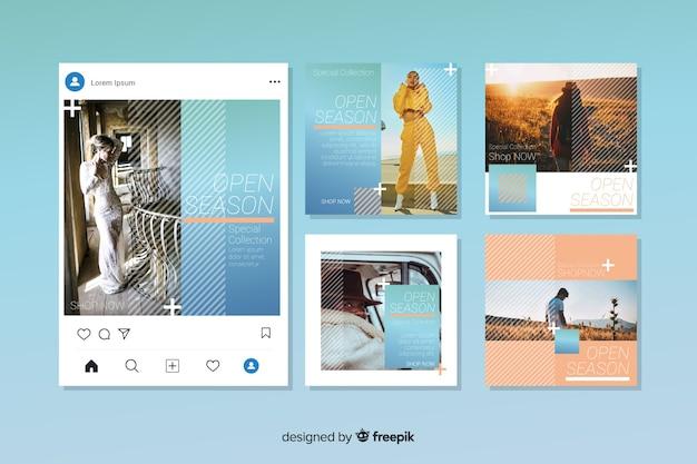 Kolekcja postów na instagramie