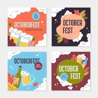 Kolekcja postów na oktoberfest na instagramie