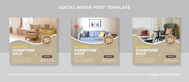 Kolekcja postów na sprzedaż mebli na instagramie