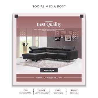 Kolekcja postów w mediach społecznościowych na sprzedaż mebli