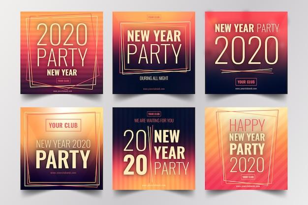 Kolekcja postu na instagramie w nowym roku 2020