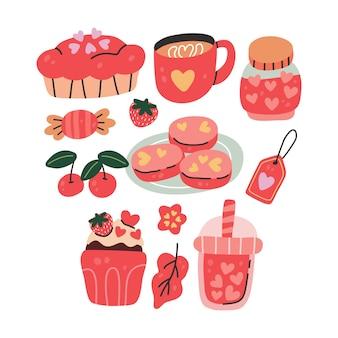 Kolekcja potraw i napojów w stylu skandynawskim