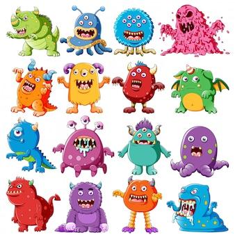 Kolekcja potworów wściekłych postaci