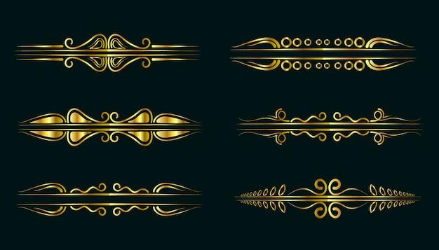 Kolekcja premium za złote ornamenty