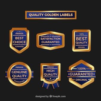 Kolekcja premium złoty naklejki