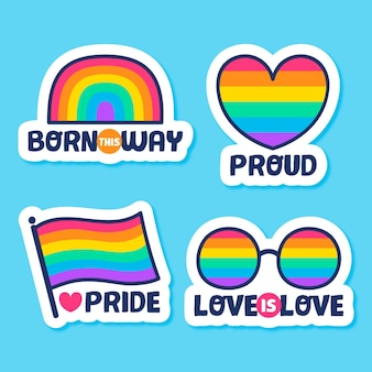Kolekcja pride day lables