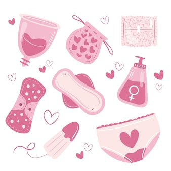 Kolekcja produktów higienicznych dla kobiet