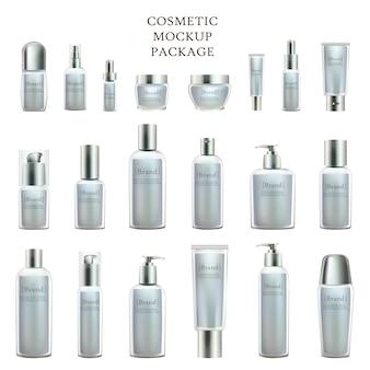 Kolekcja produktów kosmetycznych i pojemników