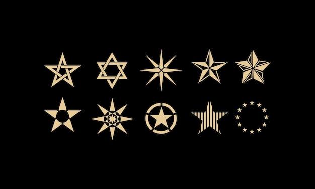 Kolekcja projektów logo gwiazdy