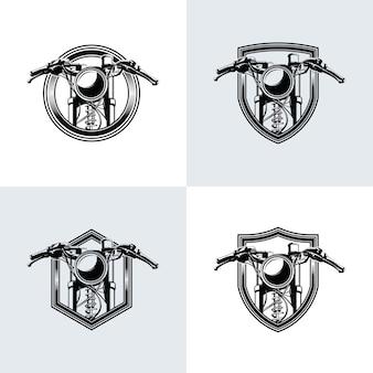 Kolekcja projektowania logo konkursu wyścigów rowerowych