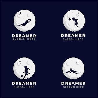 Kolekcja projektowania logo marzeń dziecka