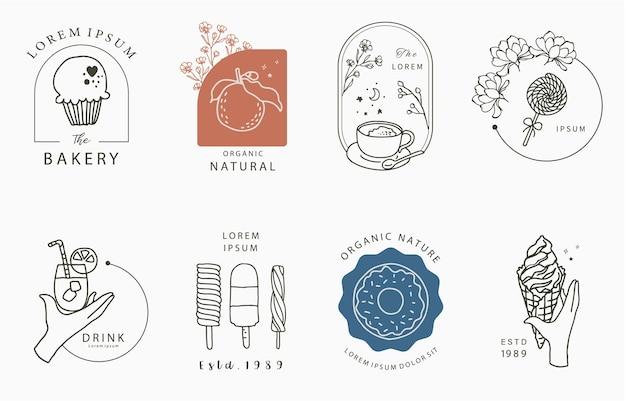 Kolekcja projektowania żywności z lodami