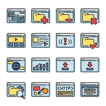 Kolekcja przeglądarki interfejsu komputera