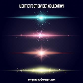 Kolekcja przegród z efektem świetlnym