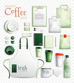 Kolekcja przezroczysta kawa po irlandzku