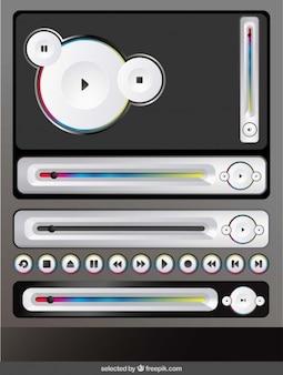 Kolekcja przyciski muzyczne