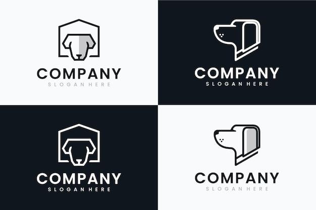 Kolekcja psów głowy, inspiracja do projektowania logo