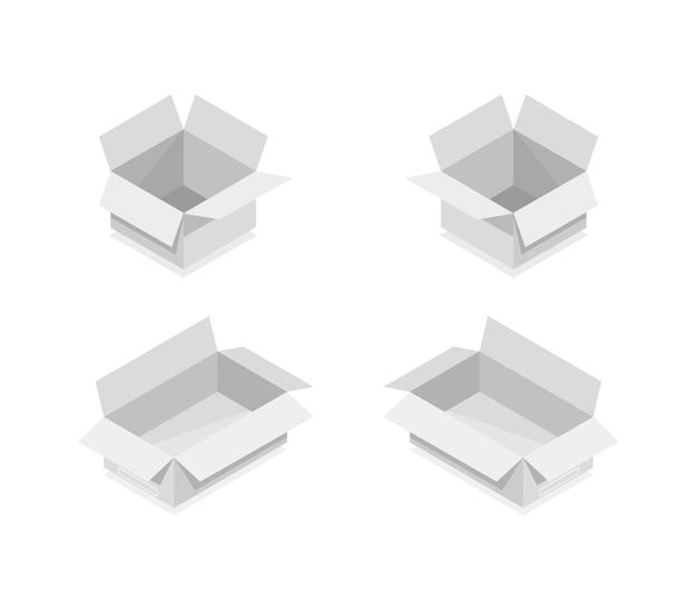 Kolekcja pudełek izometrycznych