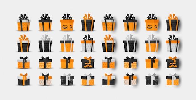 Kolekcja pudełek na prezenty halloween