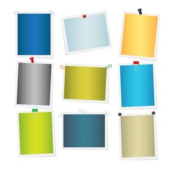 Kolekcja pustych kolorowych załączonych zdjęć.
