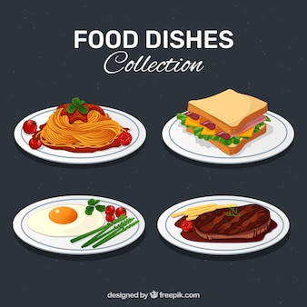 Kolekcja pyszne jedzenie danie