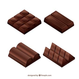 Kolekcja pysznych czekoladowych batonów