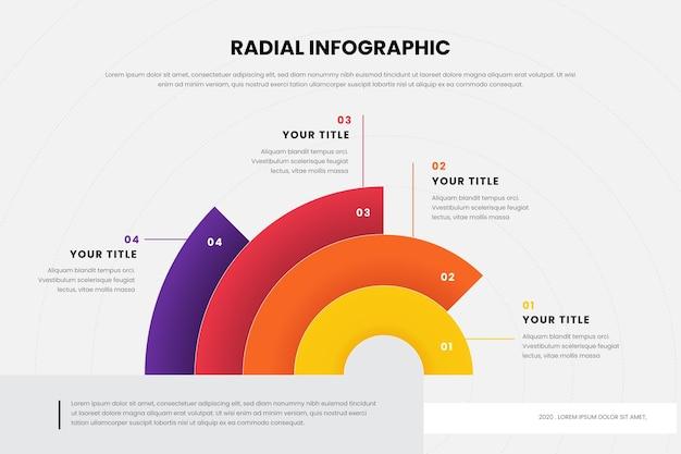 Kolekcja radialna infografika