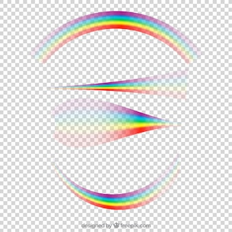 Kolekcja Rainbows W Różnych Kształtach Darmowych Wektorów
