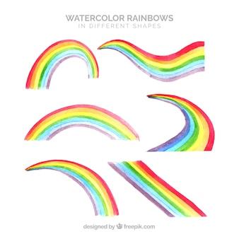 Kolekcja rainbows w różnych kształtach