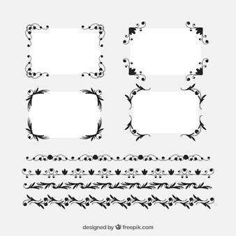 Kolekcja ramek certyfikatów z ornamentami
