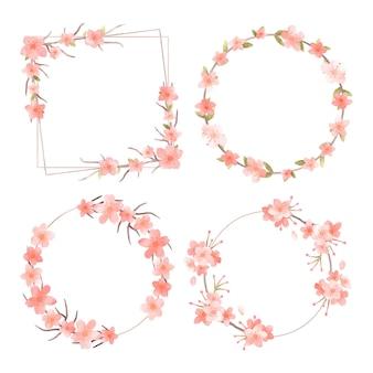 Kolekcja ramek kwiatowy