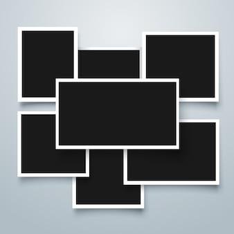 Kolekcja ramek polaroid