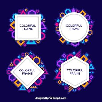 Kolekcja ramek w kolorowym stylu