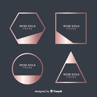 Kolekcja ramek z różowego złota