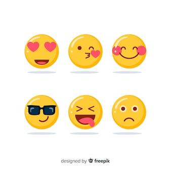 Kolekcja reakcji na emotikony