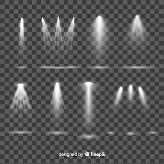Kolekcja realistycznego oświetlenia punktowego