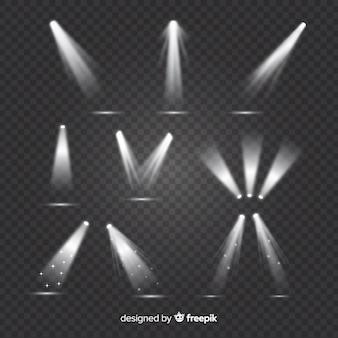 Kolekcja realistycznego oświetlenia sceny