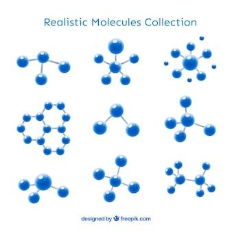 Kolekcja realistycznej moleku? y