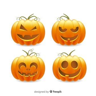 Kolekcja realistycznych dyń halloween