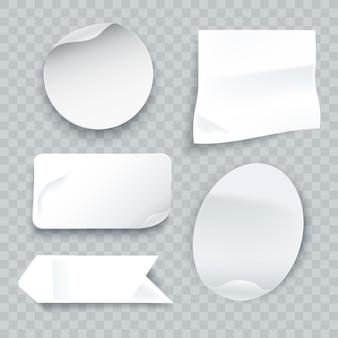 Kolekcja realistycznych naklejek papierowych