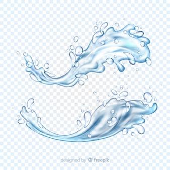 Kolekcja realistycznych rozprysków wody