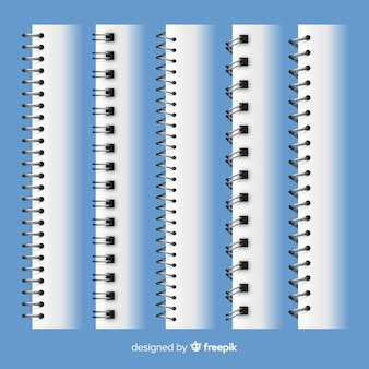 Kolekcja realistycznych spiral dla notebooka