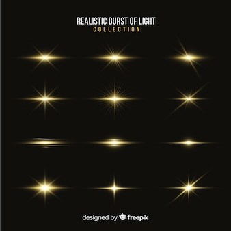 Kolekcja realistycznych wybuchów światła