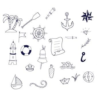 Kolekcja ręczna na morzu